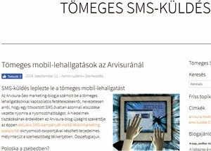 tömeges sms-marketing