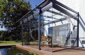 Terasz beépítés - üvegtető